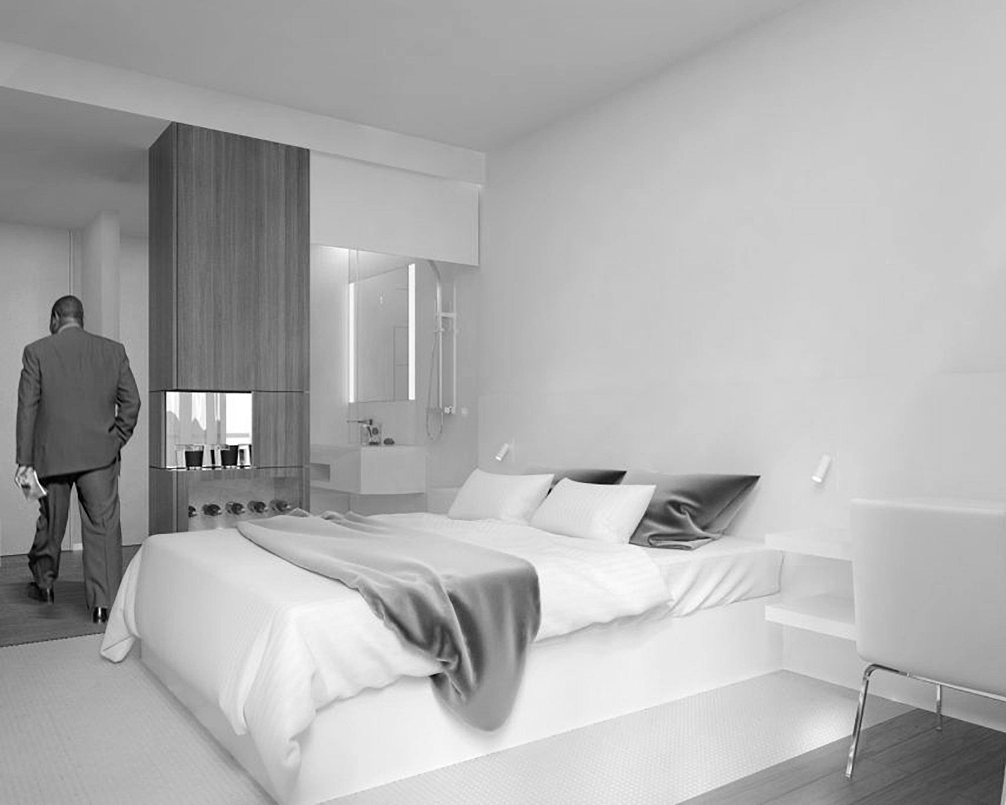 Mobiliário em resina acrílica, para novo hotel, em Moçambique.